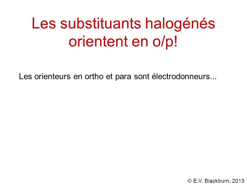 Les substituants halogénés orientent en o/p!