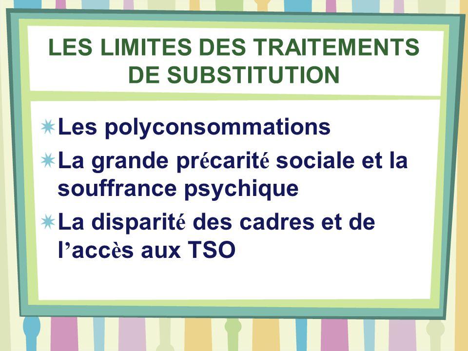 LES LIMITES DES TRAITEMENTS DE SUBSTITUTION