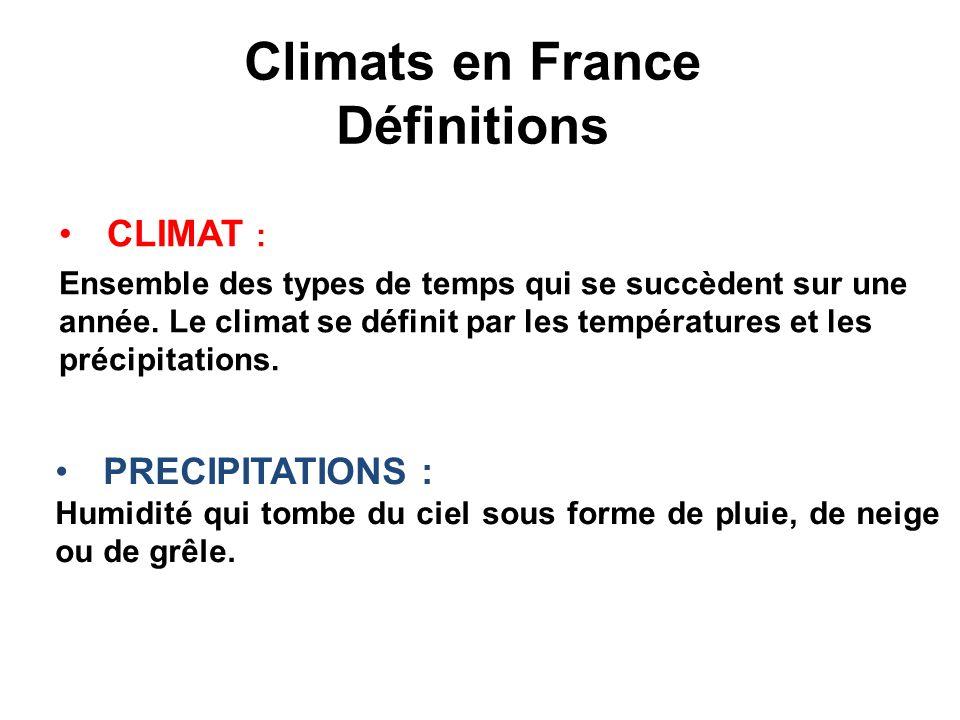 Climats en France Définitions