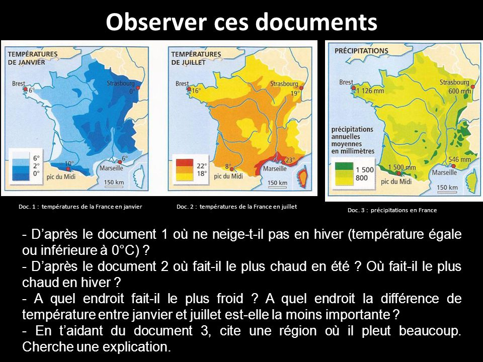 Observer ces documents