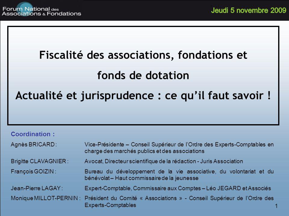 Fiscalité des associations, fondations et fonds de dotation