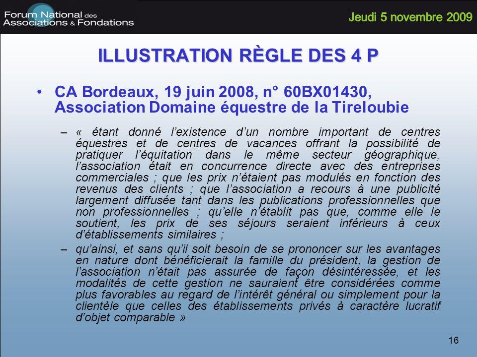 ILLUSTRATION RÈGLE DES 4 P