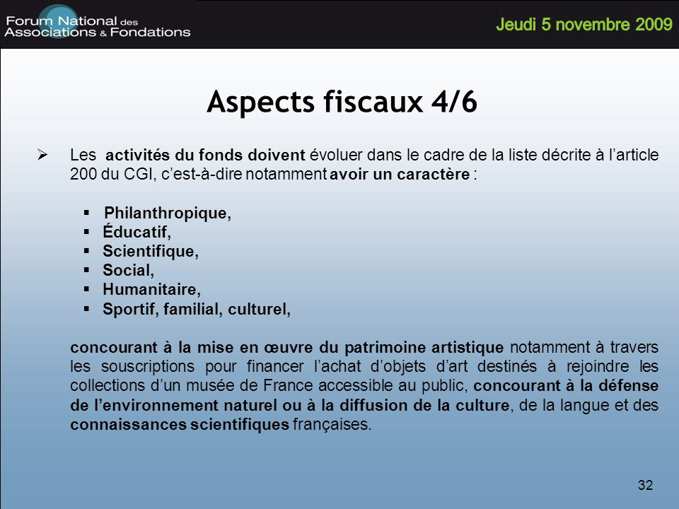 Aspects fiscaux 4/6