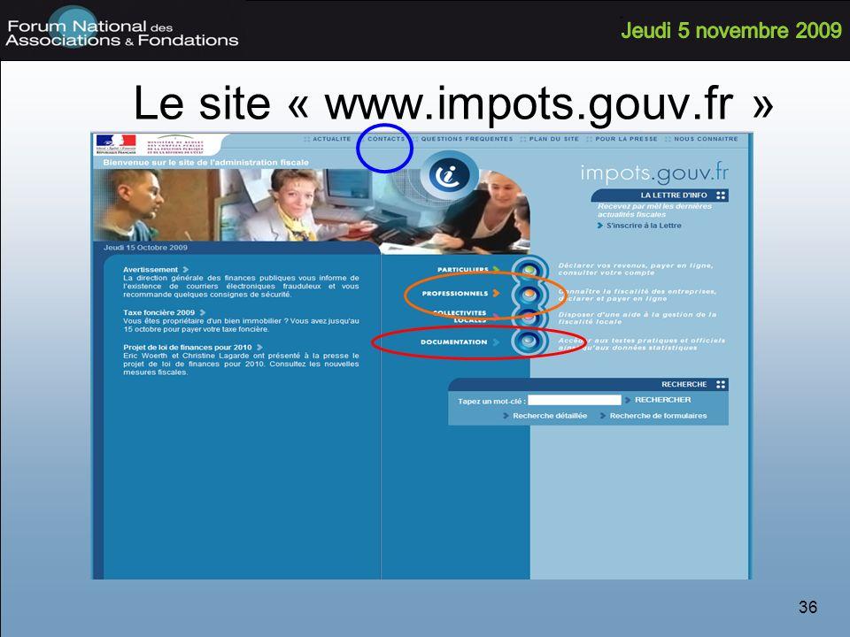 Le site « www.impots.gouv.fr »