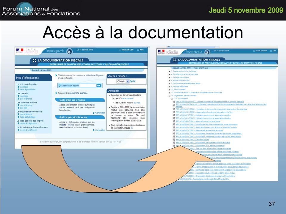 Accès à la documentation