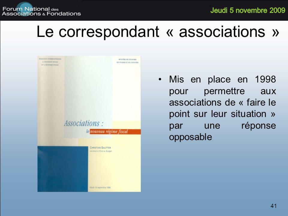 Le correspondant « associations »