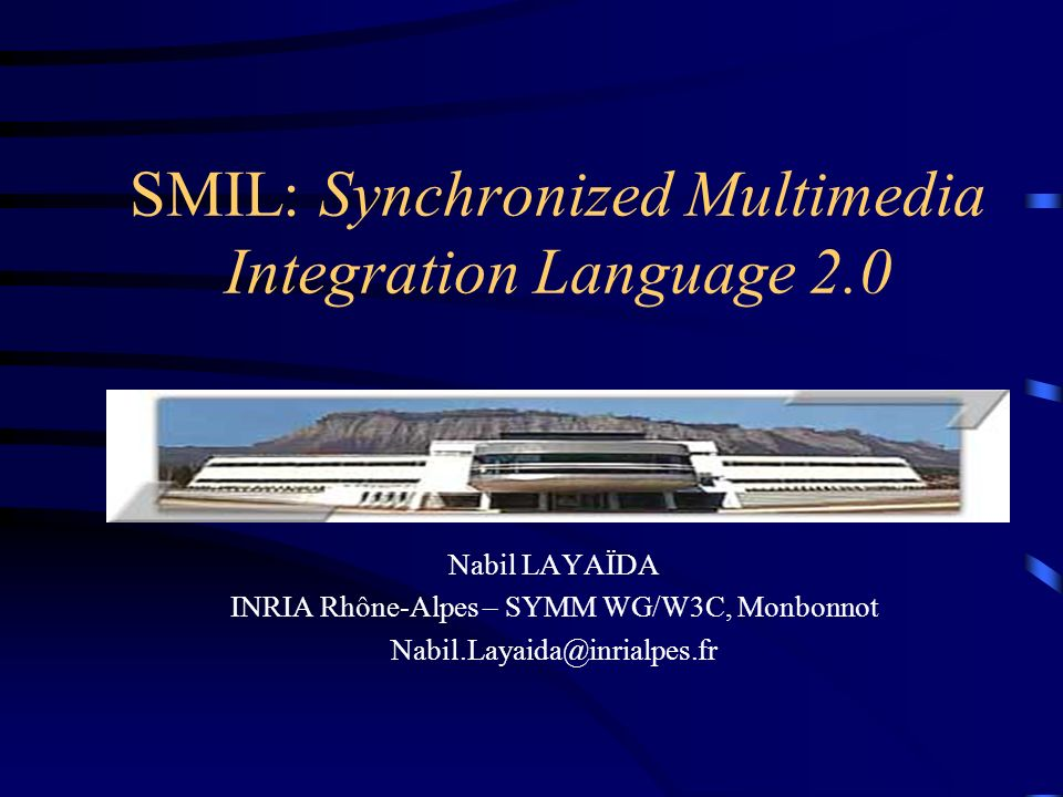 SMIL: Synchronized Multimedia Integration Language 2.0