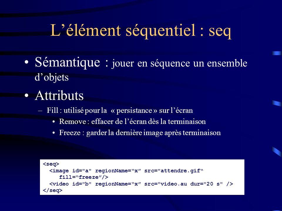 L'élément séquentiel : seq
