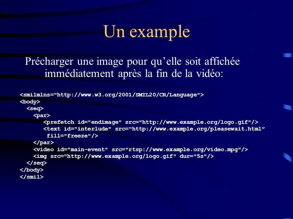 Un example Précharger une image pour qu'elle soit affichée immédiatement après la fin de la vidéo: