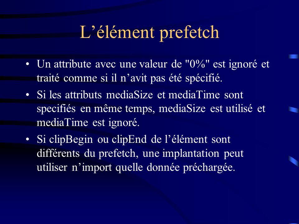 L'élément prefetch Un attribute avec une valeur de 0% est ignoré et traité comme si il n'avit pas été spécifié.