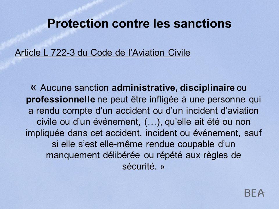 Protection contre les sanctions