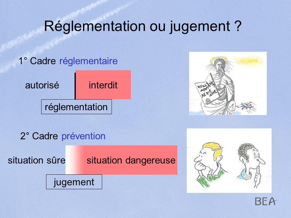 Réglementation ou jugement
