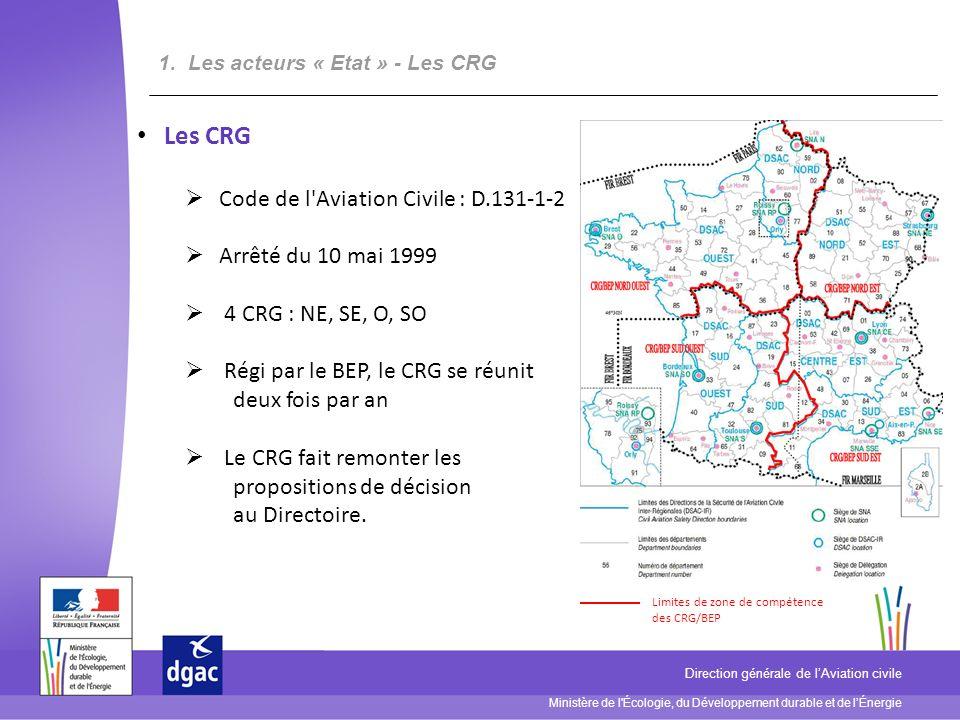 Les CRG Code de l Aviation Civile : D.131-1-2 Arrêté du 10 mai 1999