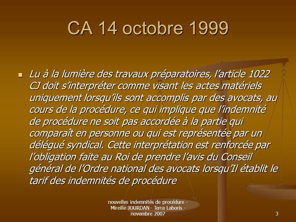 CA 14 octobre 1999