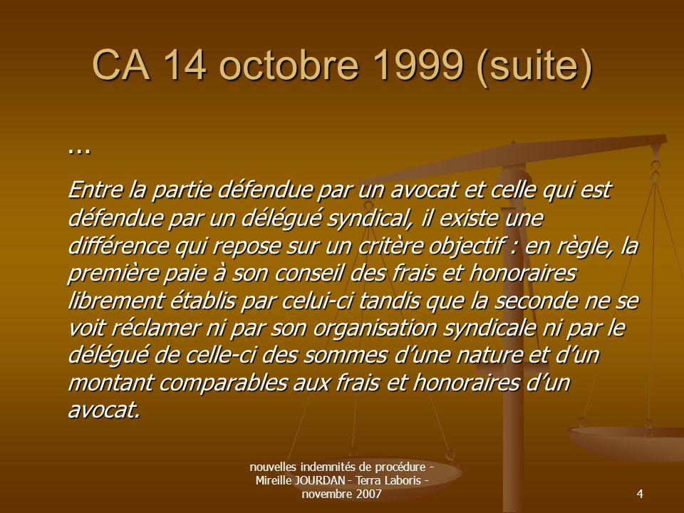 CA 14 octobre 1999 (suite) …