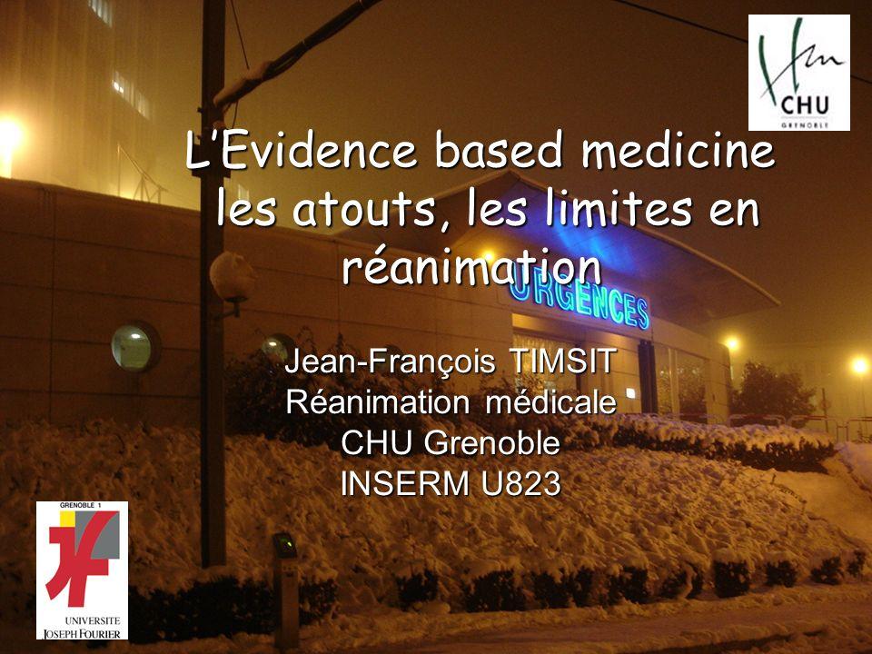 L'Evidence based medicine les atouts, les limites en réanimation