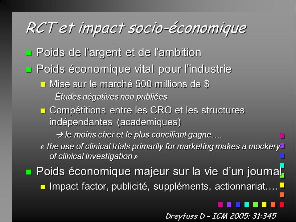 RCT et impact socio-économique