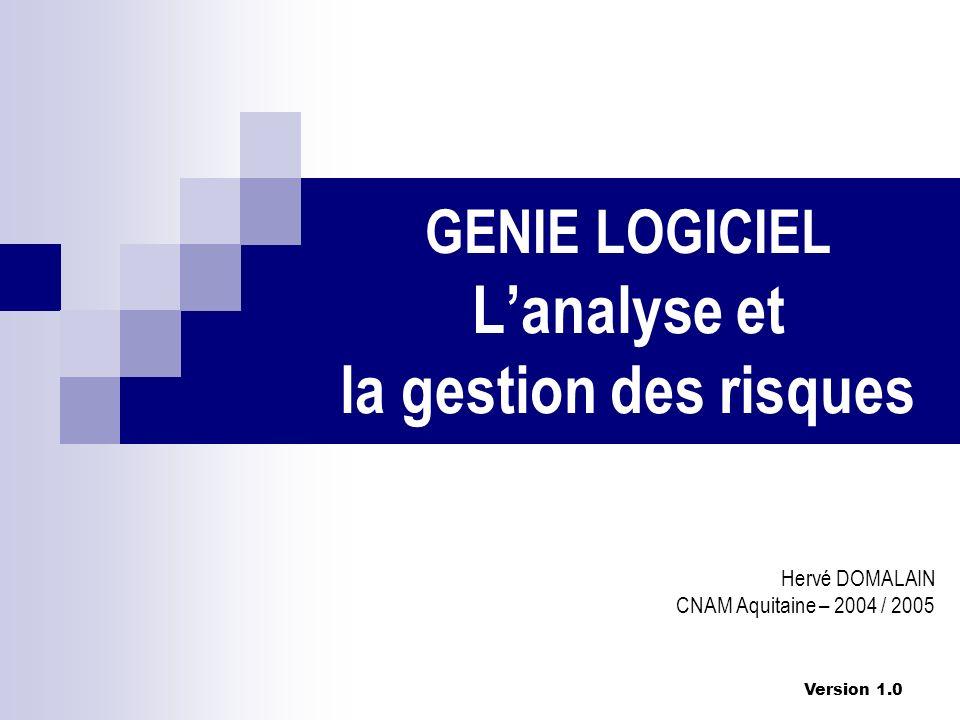 GENIE LOGICIEL L'analyse et la gestion des risques