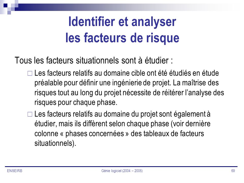 Identifier et analyser les facteurs de risque
