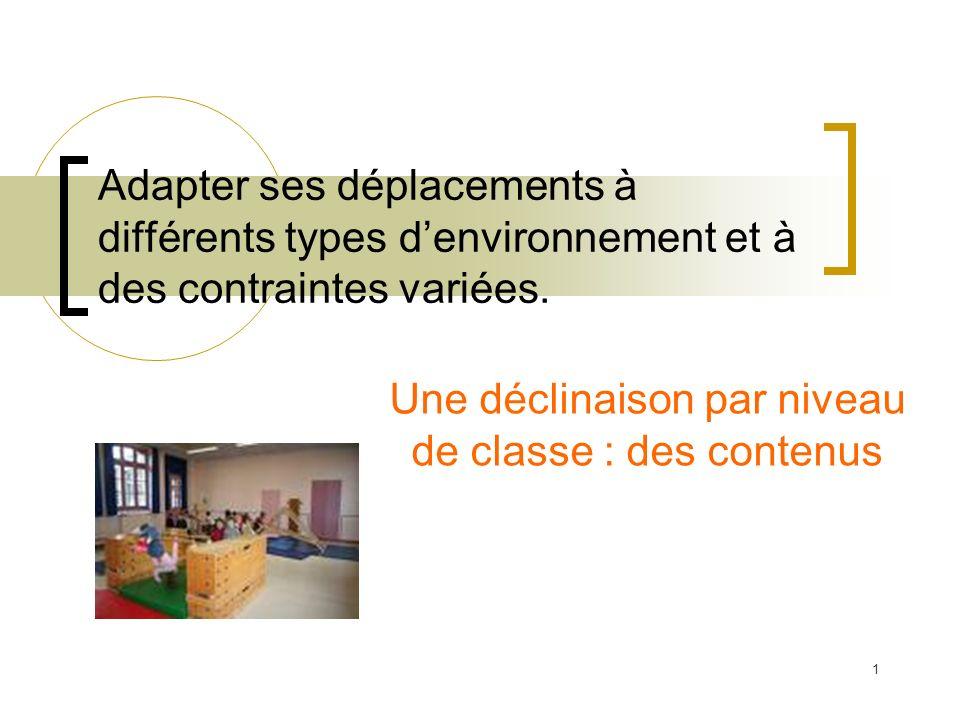 Une déclinaison par niveau de classe : des contenus