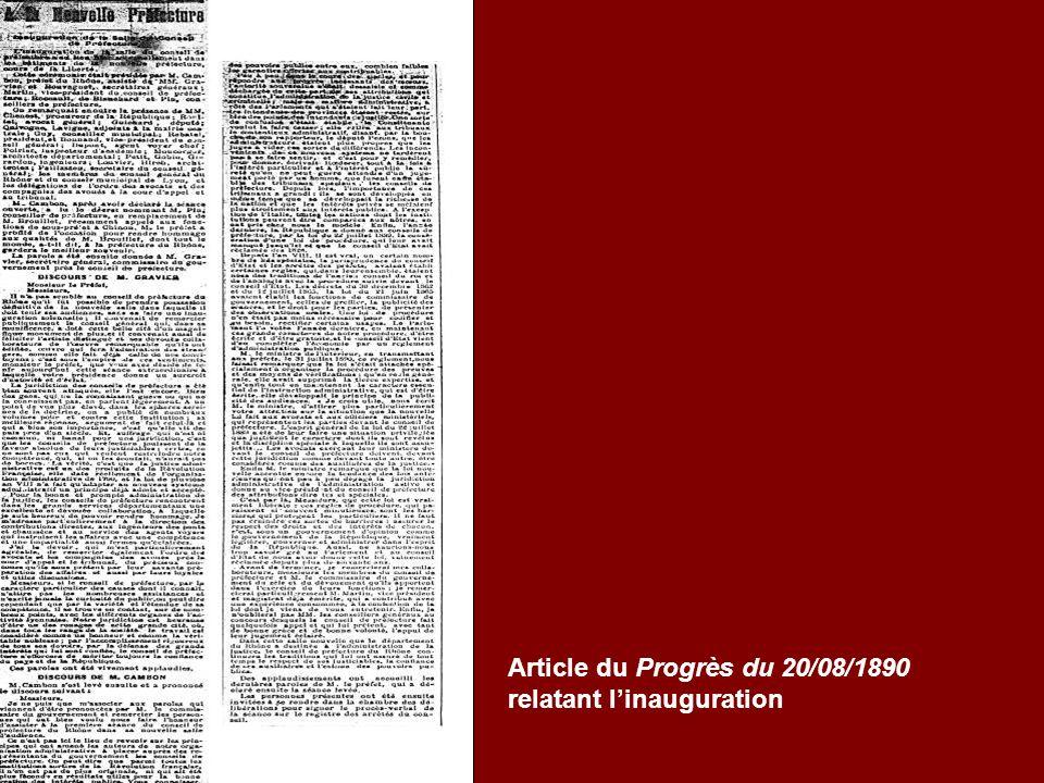 Article du Progrès du 20/08/1890