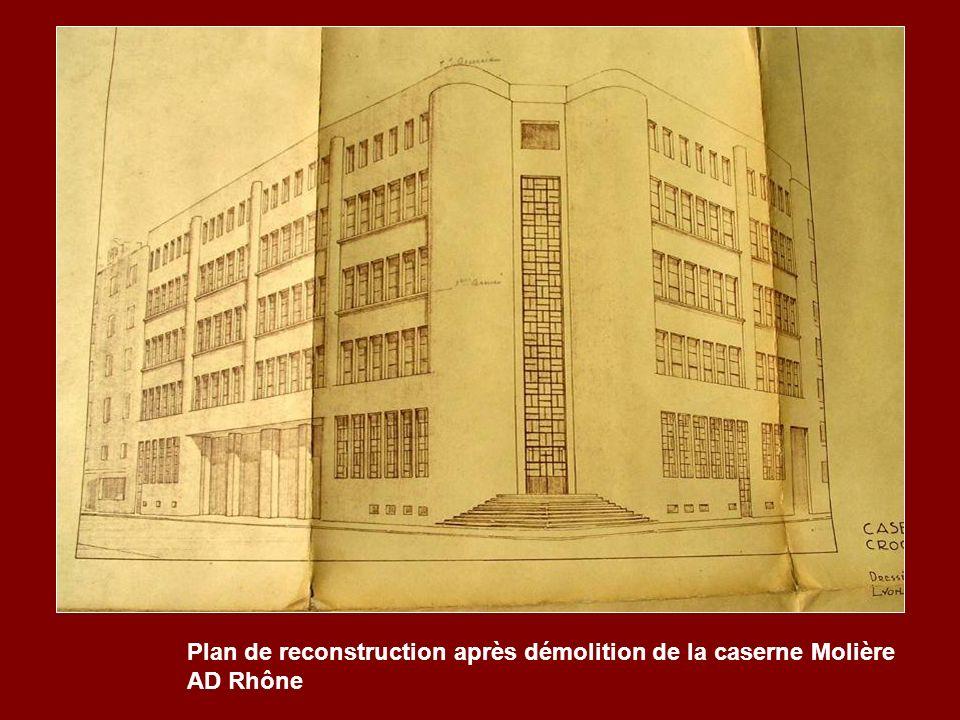 Plan de reconstruction après démolition de la caserne Molière