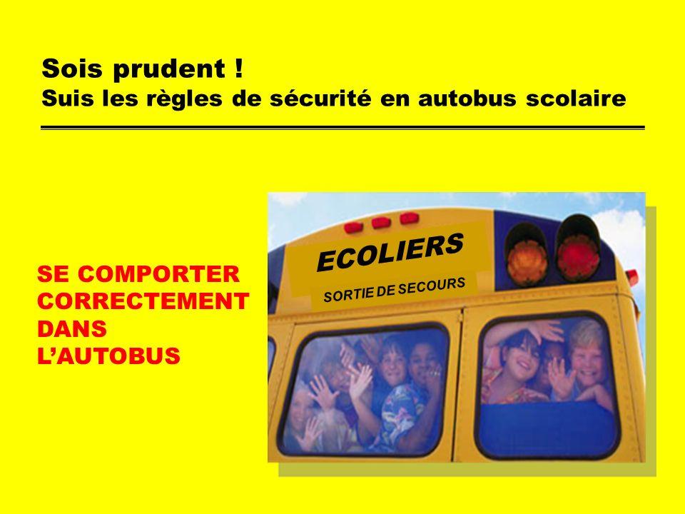 Suis les r gles de s curit en autobus scolaire ppt - Peut on se doucher pendant les regles ...