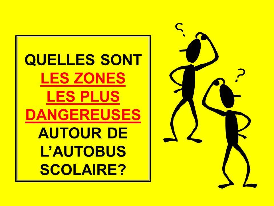 LES PLUS DANGEREUSES AUTOUR DE L'AUTOBUS SCOLAIRE