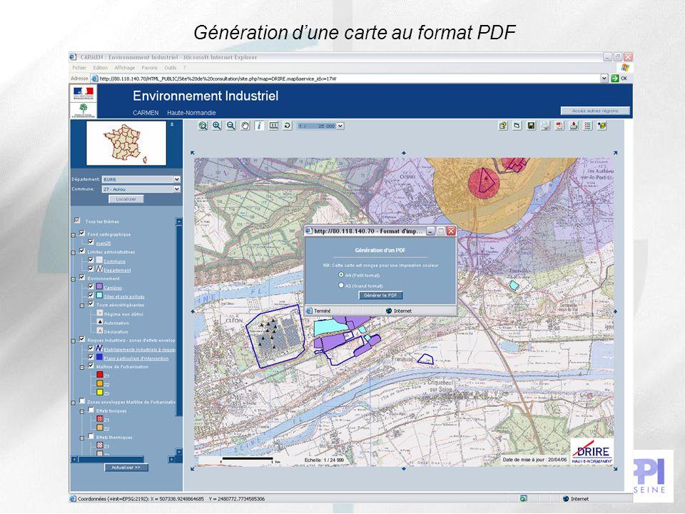 Génération d'une carte au format PDF