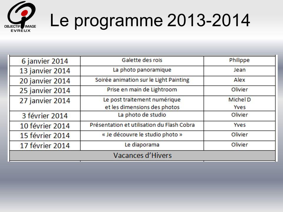 Le programme 2013-2014