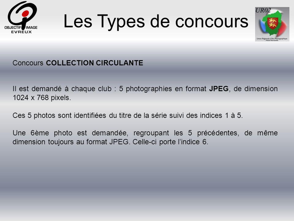 Les Types de concours Concours COLLECTION CIRCULANTE