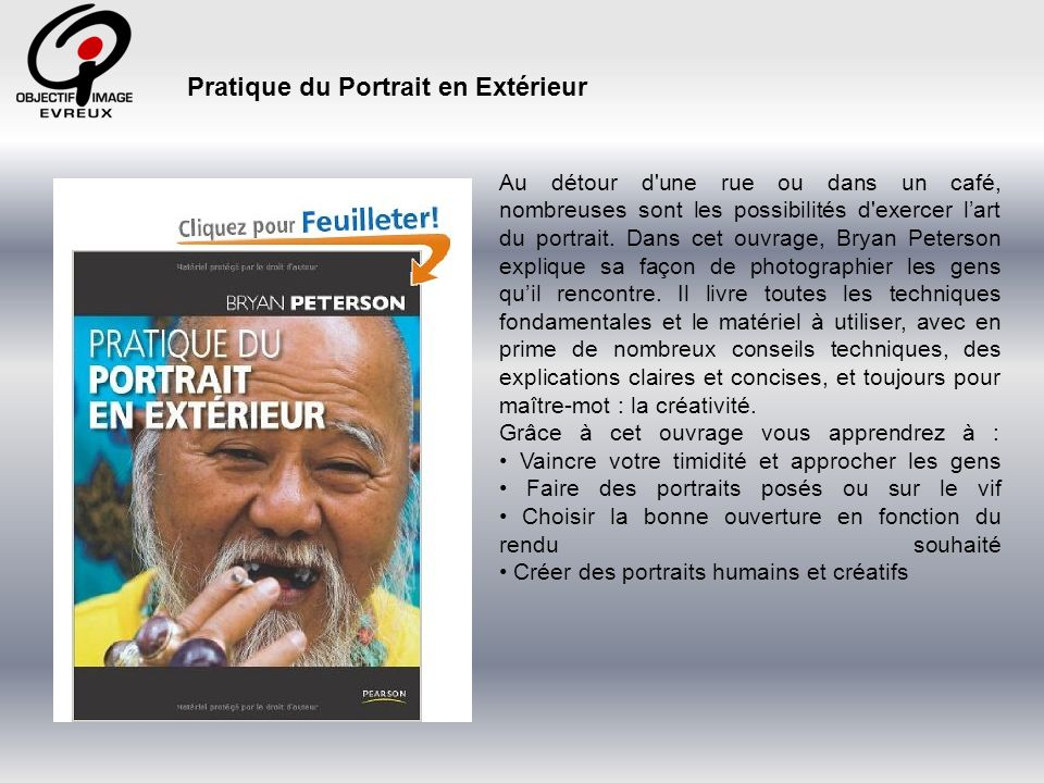 Pratique du Portrait en Extérieur