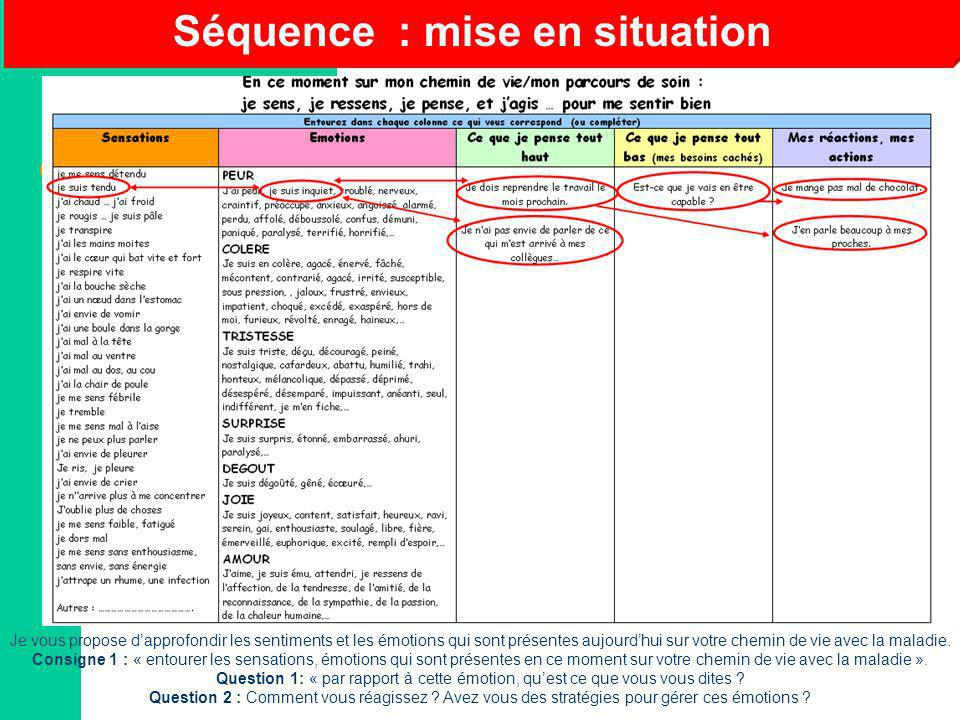 Séquence : mise en situation
