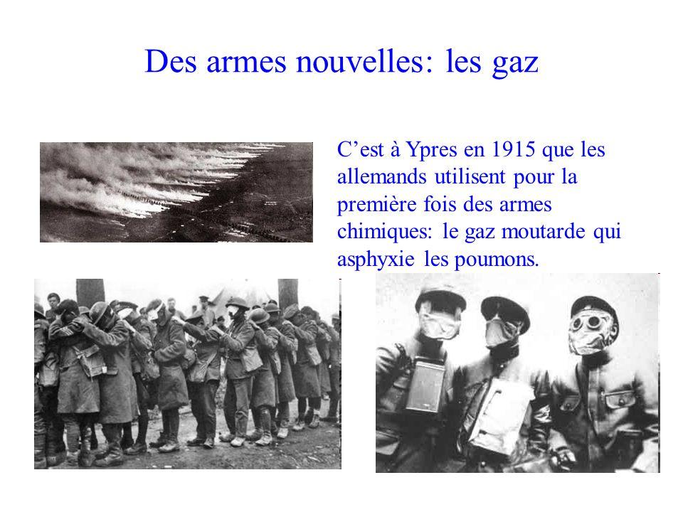 Des armes nouvelles: les gaz