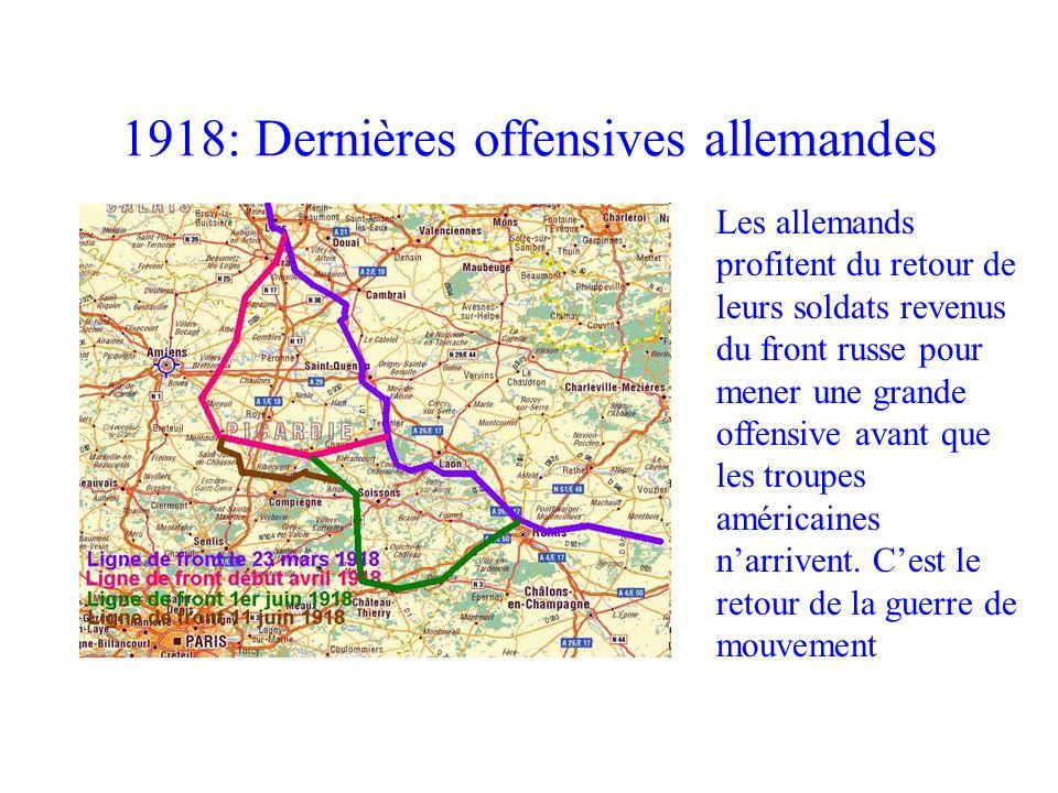 1918: Dernières offensives allemandes