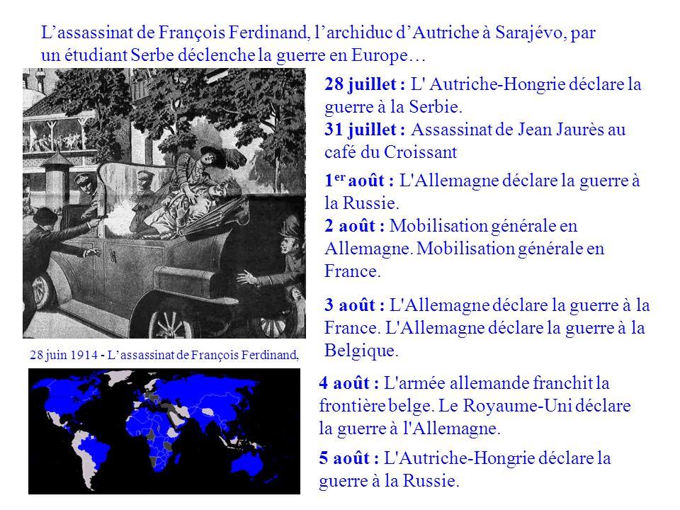 28 juin 1914 - L'assassinat de François Ferdinand,