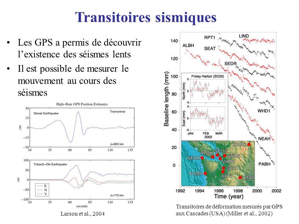 Transitoires sismiques