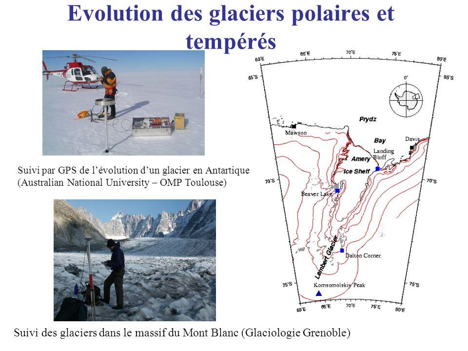 Evolution des glaciers polaires et tempérés
