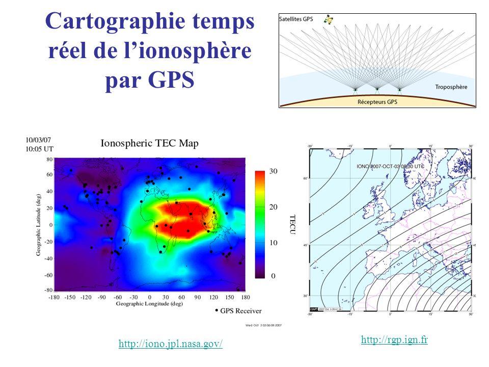 Cartographie temps réel de l'ionosphère par GPS