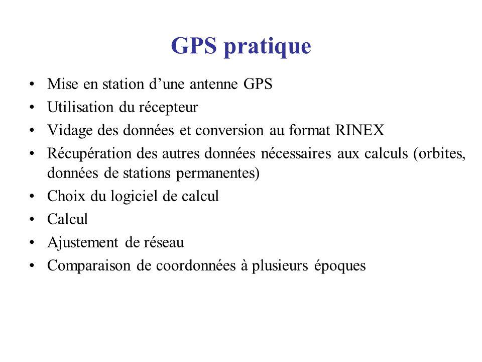 GPS pratique Mise en station d'une antenne GPS