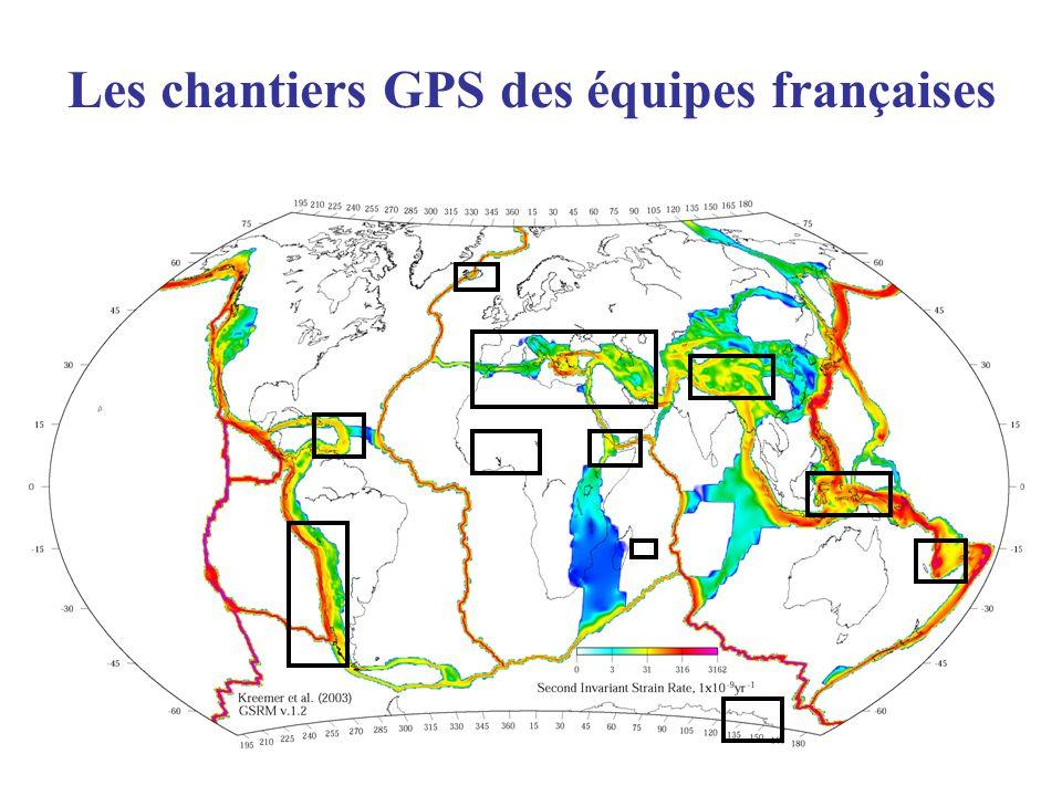 Les chantiers GPS des équipes françaises