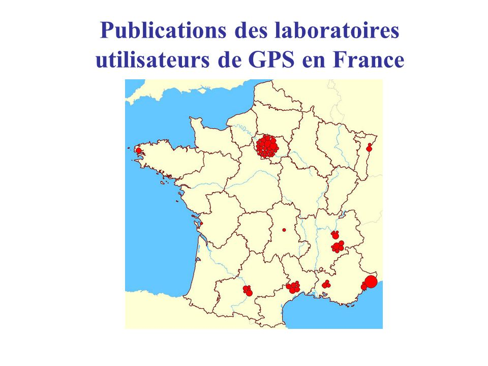 Publications des laboratoires utilisateurs de GPS en France