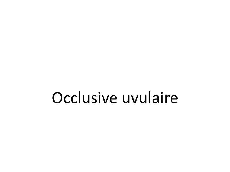 Occlusive uvulaire