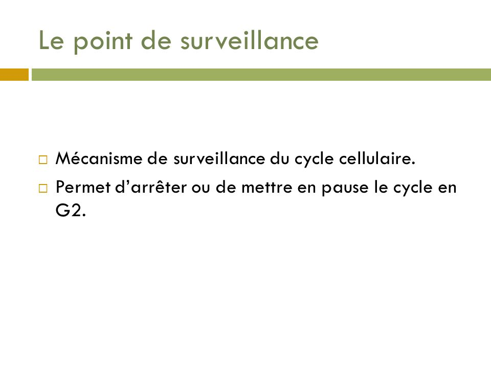 Le point de surveillance
