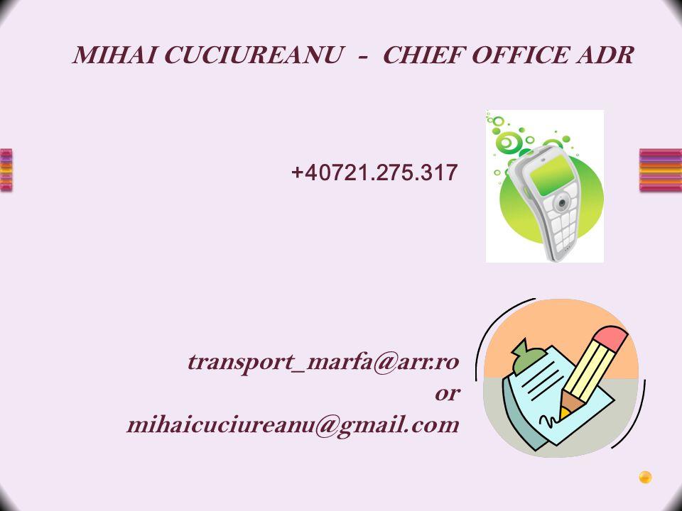 MIHAI CUCIUREANU - CHIEF OFFICE ADR