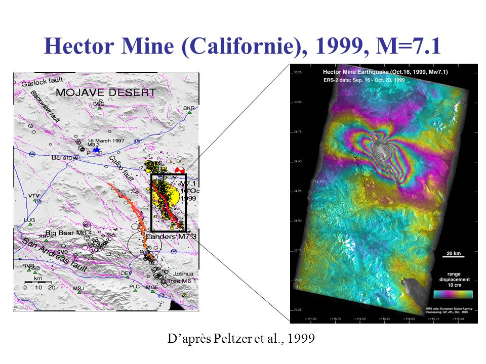 Hector Mine (Californie), 1999, M=7.1