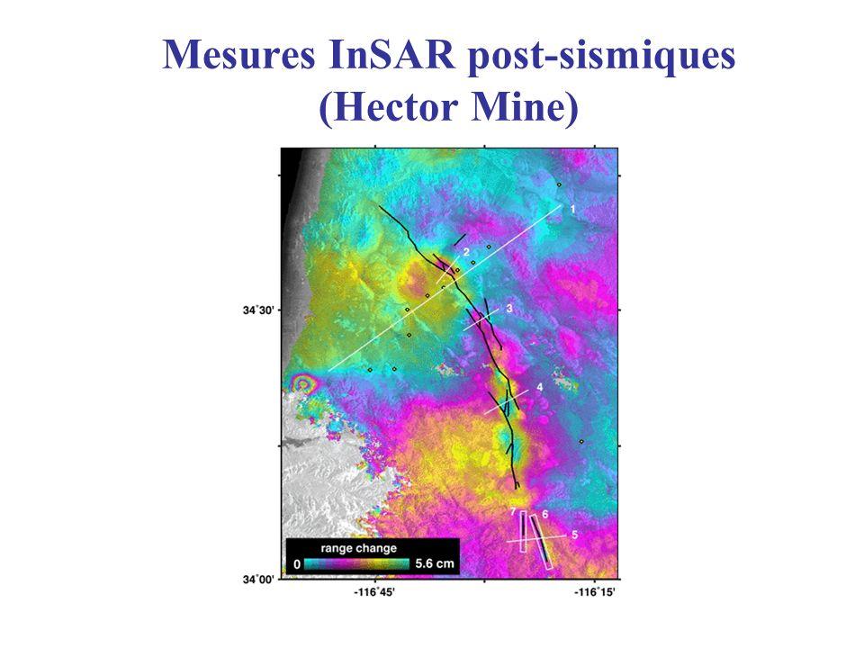 Mesures InSAR post-sismiques (Hector Mine)