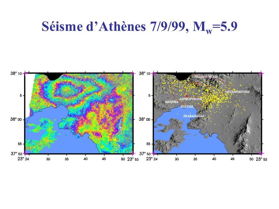 Séisme d'Athènes 7/9/99, Mw=5.9