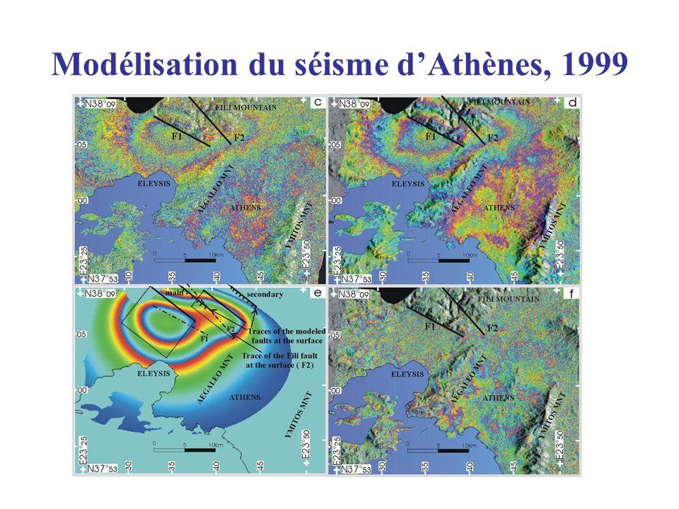 Modélisation du séisme d'Athènes, 1999