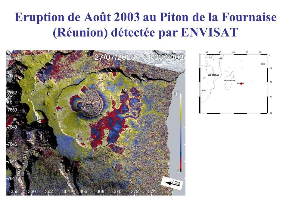 Eruption de Août 2003 au Piton de la Fournaise (Réunion) détectée par ENVISAT